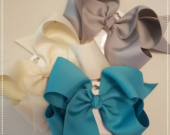 Large hair bows- made to match Matilda Jane- hair bows for little girls-Once upon a time-6 inch hair bow-large bow-hair barrette-hair bow-