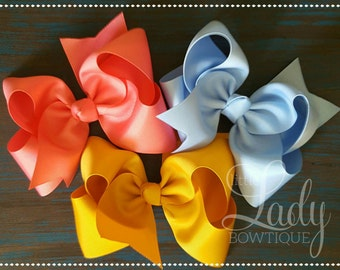 Large hair bows- made to match Matilda Jane-once upon a time- chapter 2- big bows for girls- large bows- little girl hair bows- 6 inch bow