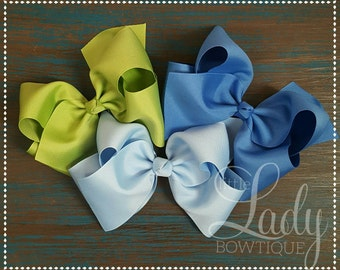 Extra large hair bows made to match Matilda Jane- chapter 2- once upon a time-jumbo hair bows- 7 inch hair bows-hair bows for girls-big bows