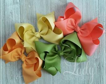 Ch.5~Hair-bows made to match Matilda Jane- The adventure begins~Hair-bow bundle~hair-bows for girls~baby bows~boutique hair-bows~jumbo bows-