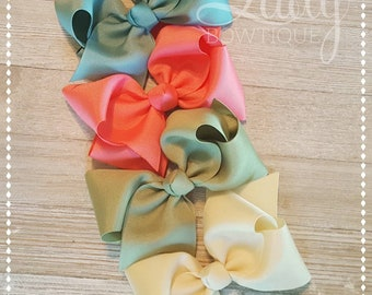 Hair-Bow Bundle-Joanna Gaines June 2018-Made to Match Matilda Jane-Hairbows for girls-baby bows-Custom bows-headband bows-jumbo Hairbows-bow