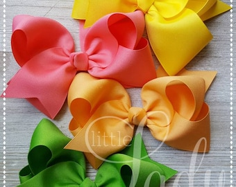 Wish You Were Here-Camp MJC-Made to Match Matilda Jane-Hairbow Bundle-Custom hairbows-Bundled Hairbows-baby bows-Jumbo Hairbows-boutique bow