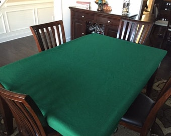 Felt Poker Table Cloth Bonnet Cover For Round Square Or Etsy