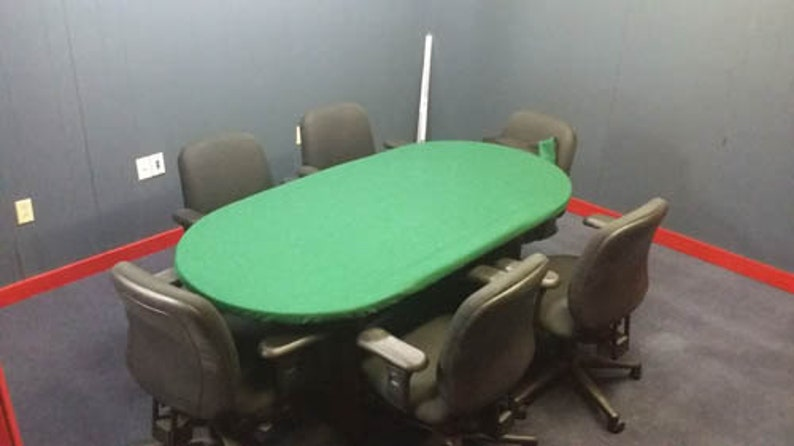 Etsy & Poker Felt cover for Any Round table with leaf insert - oval pill table