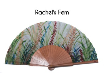 unique gift multicolored ferns by Rachel Free Shipping Worldwide summer fashion accessories gift for mom cool accessory HAND FAN