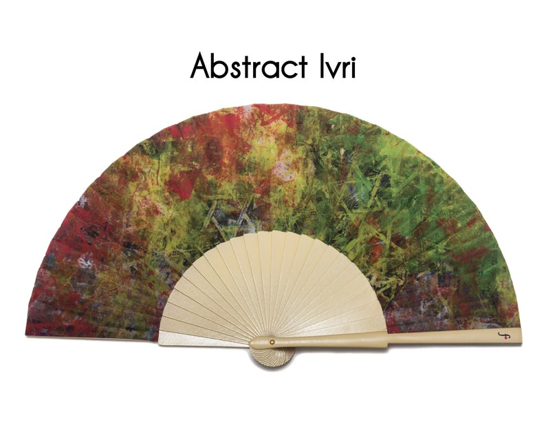 HAND FAN   abstract print with magen david symbols   unique gift   gift for  mom   fashion accessories   Free Shipping Worldwide