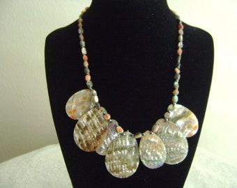 Vintage Abalone Choker Necklace