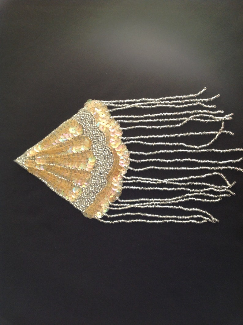 Handmade Beaded and Sequels Shoulder Embellishment