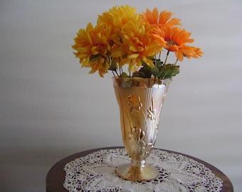 Vintage Jeannette Glass Iris and Herringbone Vase