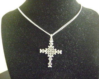 Pewter Cross Necklace