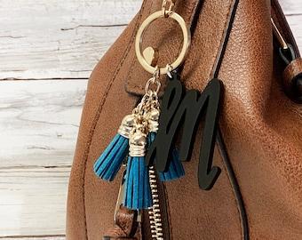 Individual Letter Keychain with 3 Mini Tassels  81d8cb98d67e