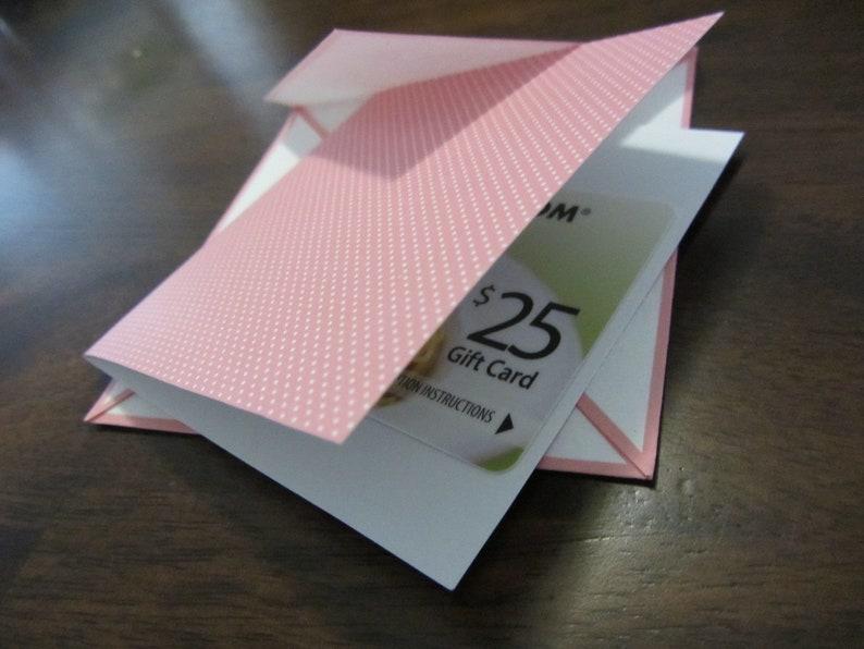 Mini Gift Notecard Buy 4 Salmon Polka Dots Small Gift Enclosure INSTANT DOWNLOAD Get 1 FREE