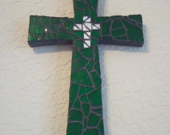 Green with Mirrored Cross Mosaic