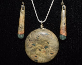Buck Eye Burl with 'Oregon Green Stone'