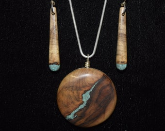 Oregon Myrtle Wood with Turquoise