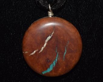 Manzanita Wood with Howlite & Green Turquoise