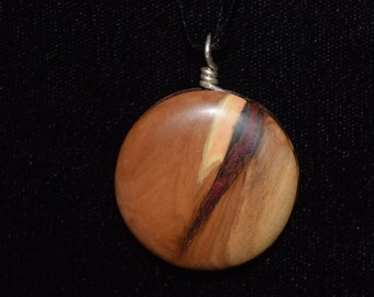 Mountain Mahogany Inlaid With Red Coral
