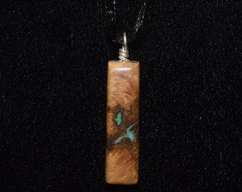 White Oak Burl with Malachite & Turquoise