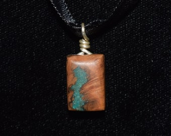 Apricot Wood with Green Turquoise
