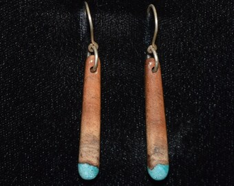 Manzanita Earrings with Blue & Green Turquosie