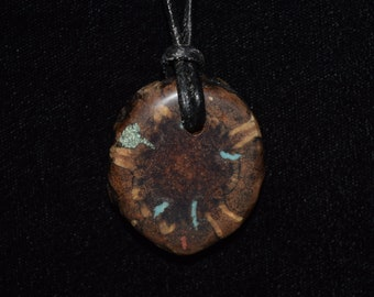 Pine Cone with Turquoise, 'Pipestone' & 'Oregon Green Stone'
