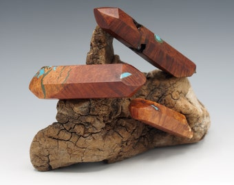 Magnetic Mineral Sculpture: Quartz Formation- Manzanita with Stone Inlay