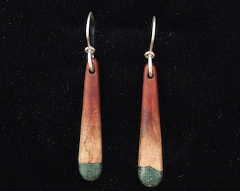 Manzanita Earrings w/'Oregon Green Stone'