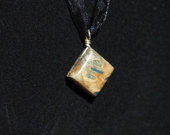 Buckeye Burl with Azurite & 'Oregon Green Stone'
