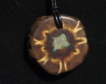 Pine Cone with Azurite, Sugilite & 'Oregon Green Stone'