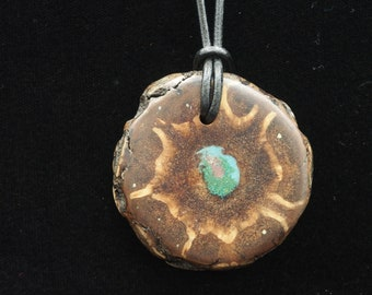 Pine Cone Pendant with Turquoise, Chrysicolla and Sugilite