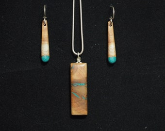 Maple Burl with Green Turquoise