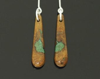 Inlaid Wood Earrings