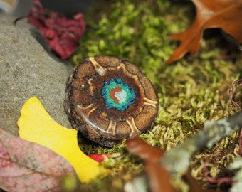 Pine Cone with Turquoise, Malachite, Azurite, and Pipestone