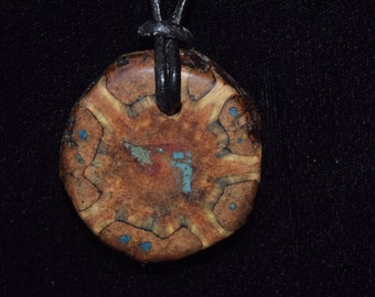 Pine Cone with Turquoise, Azurite, 'Pipestone' & 'Oregon Green Stone'