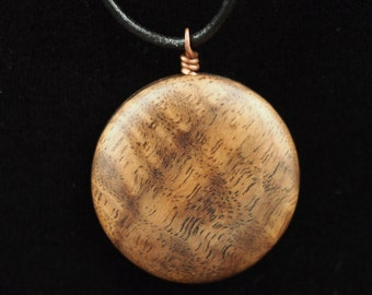 Black Walnut Burl Wood Pendant