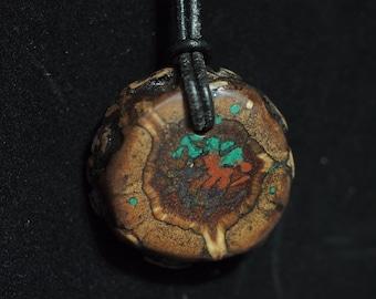 Pine Cone with Azurite, Malachite & Pipestone