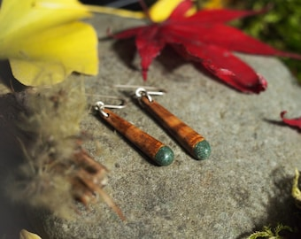 Apricot Wood with Oregon Green Stone