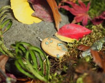 Spalted Buckeye Burl with Turquoise