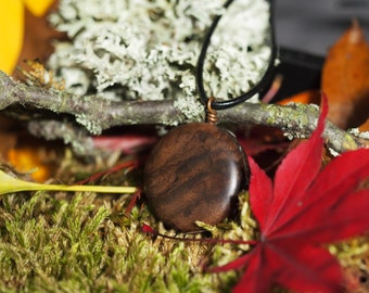 Black Walnut Burl Wood Pendant