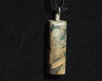 Buckeye Burl with Azurite and 'Oregon Green Stone'