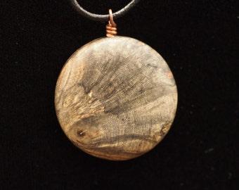 Buckeye Burl Wood Pendant
