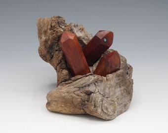 Magnetic Mineral Sculpture: Quartz Cluster - Manzanita & Turquosie