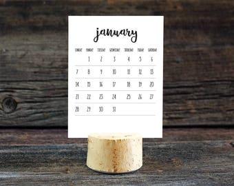 2018 Desktop Calendar