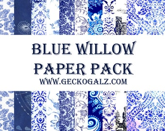 Blue willow Digital Paper Pack