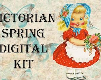 Victorian Spring Digital Craft Kit