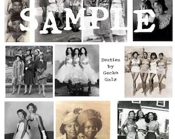 Besties Digital Collage Sheet
