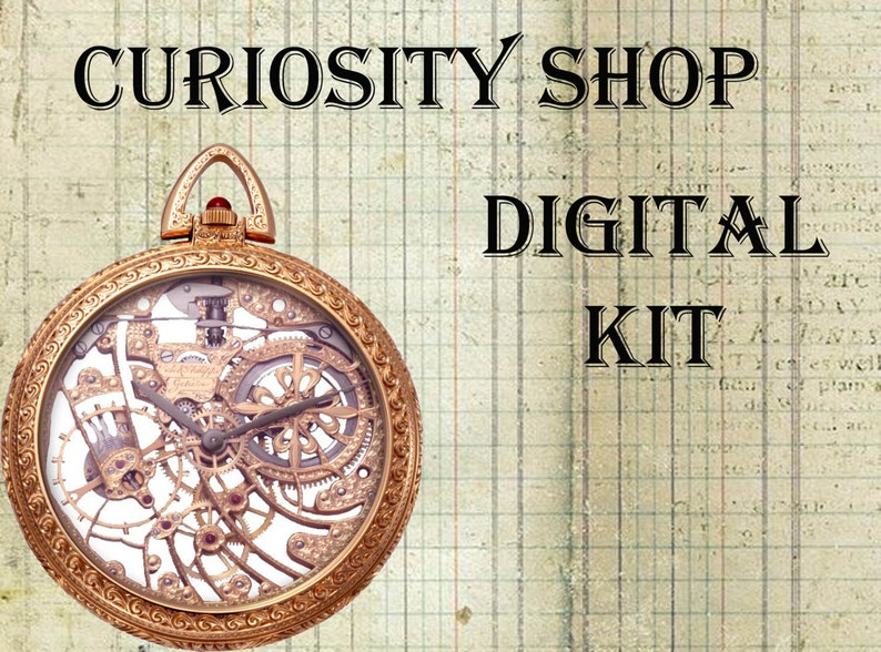 Curiosity Shop Digital Craft Kit image 0