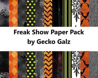 Freak Show Digital Paper Pack