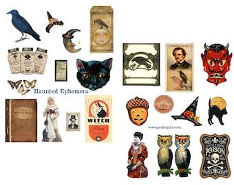 Haunted Ephemera Digital Collage Set