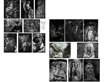 Beautiful Death Digital Collage Set
